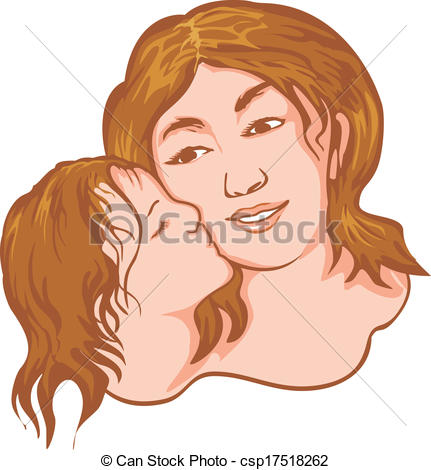Kisses clipart mother and child Vector mother kiss csp17518262 mother