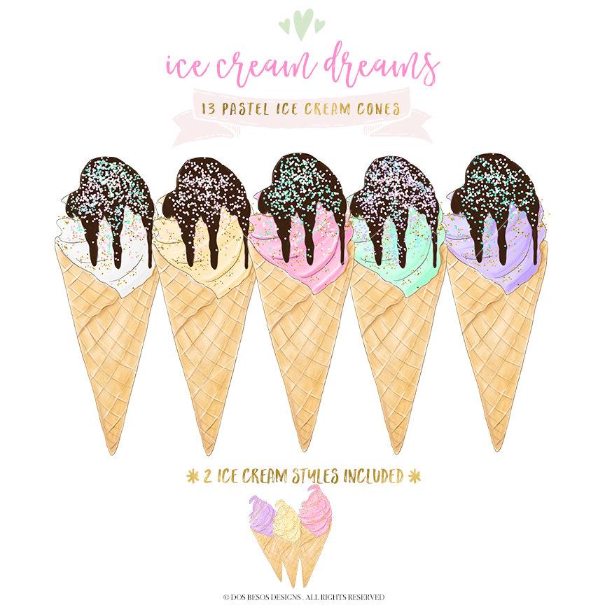 Kisses clipart pastel Pastel Waffle PNG Cream Clipart
