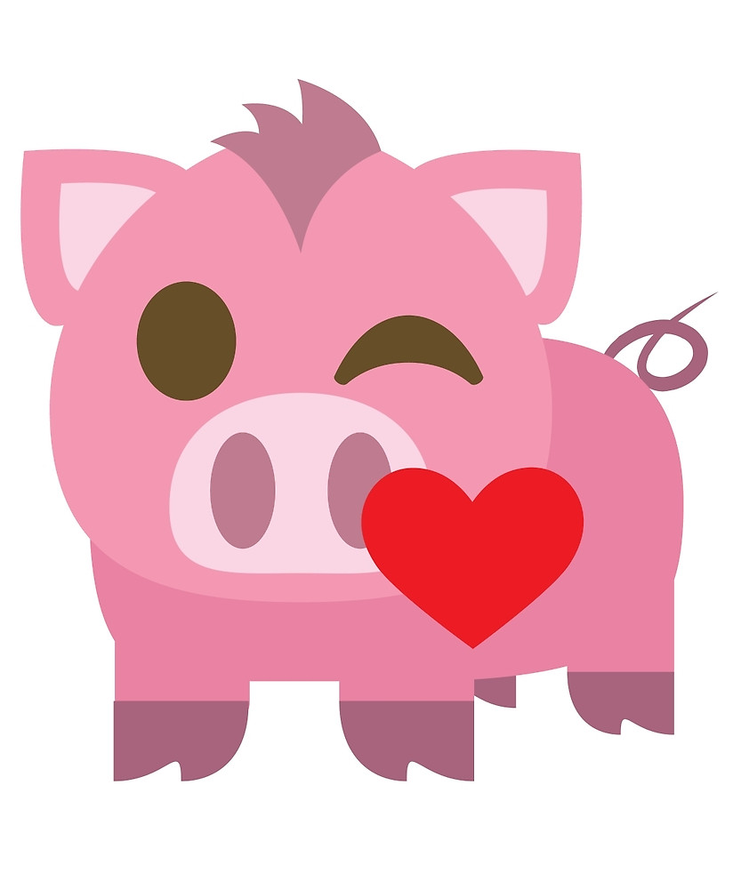 Kisses clipart pig Blowing and teeandmee Emoji Pig