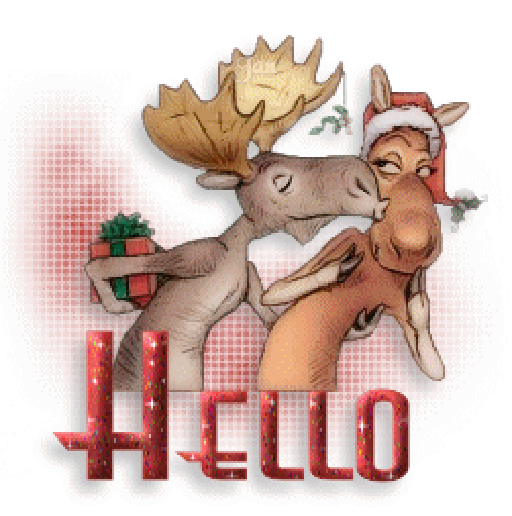 Kisses clipart reindeer With With Marketplace Animated Hello