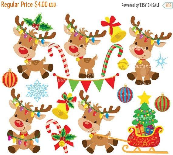 Kisses clipart reindeer AnimalsReindeerKissesClip con images Pinterest personal