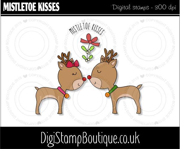Kisses clipart reindeer Click enlarge Reindeer kisses to