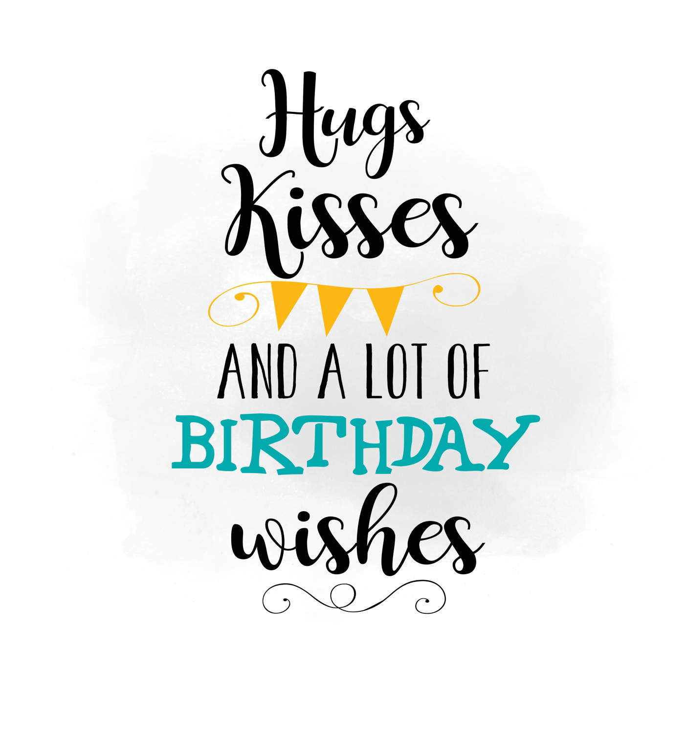 Kisses clipart the word Kisses digital is a wishes