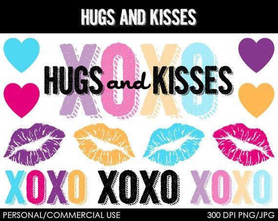Kisses clipart the word Kisses♦ Gallery kisses hugs ♦Hugs