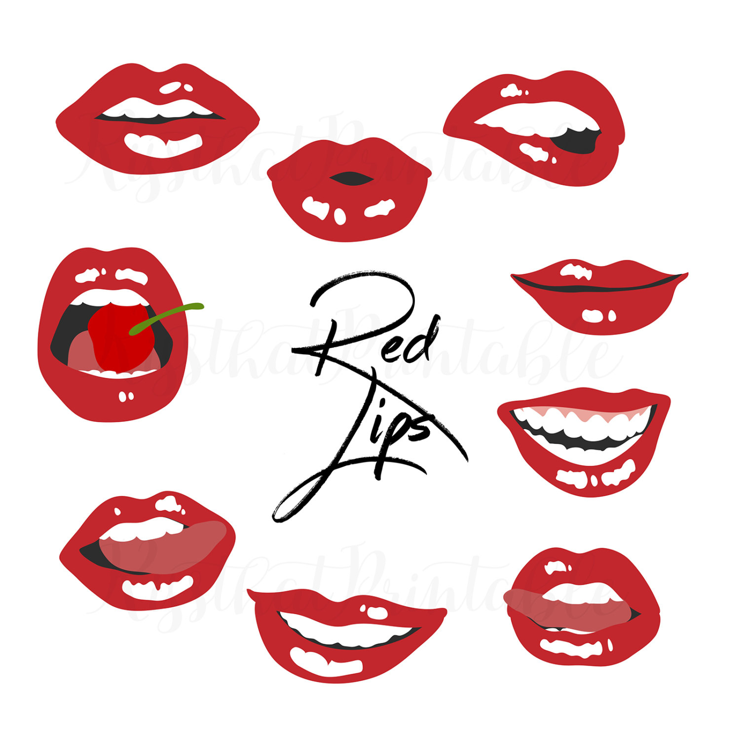 Kisses clipart valentine's day Lips Overlay drawn Lips file