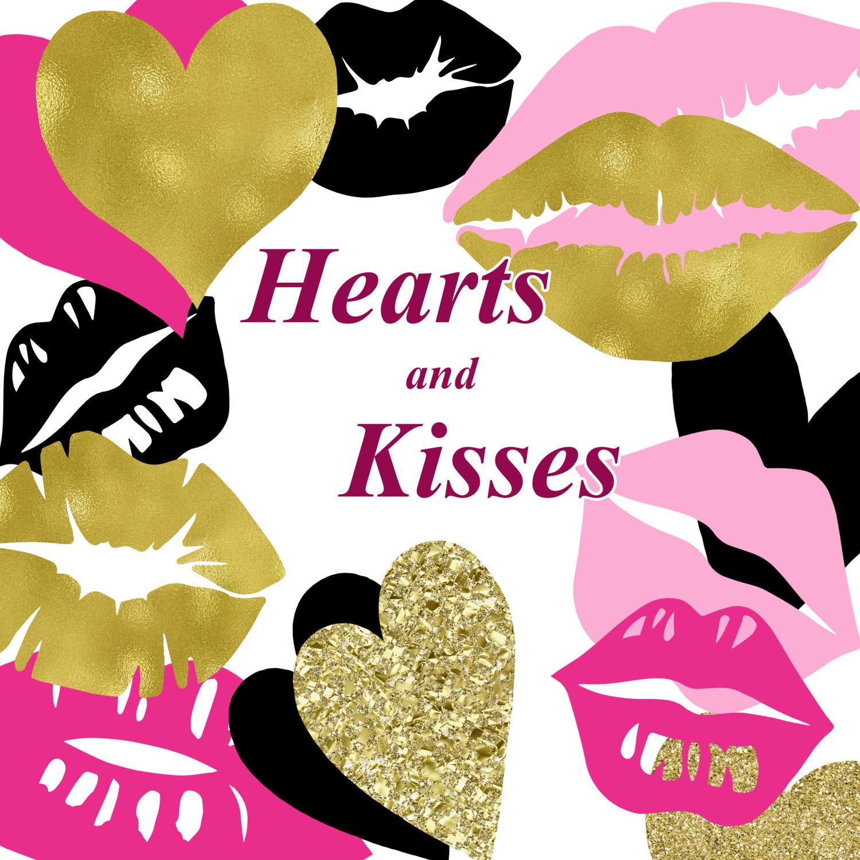 Kisses clipart yellow A & This digital Love