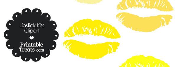 Kisses clipart yellow Clipart Treats Lipstick Lipstick in