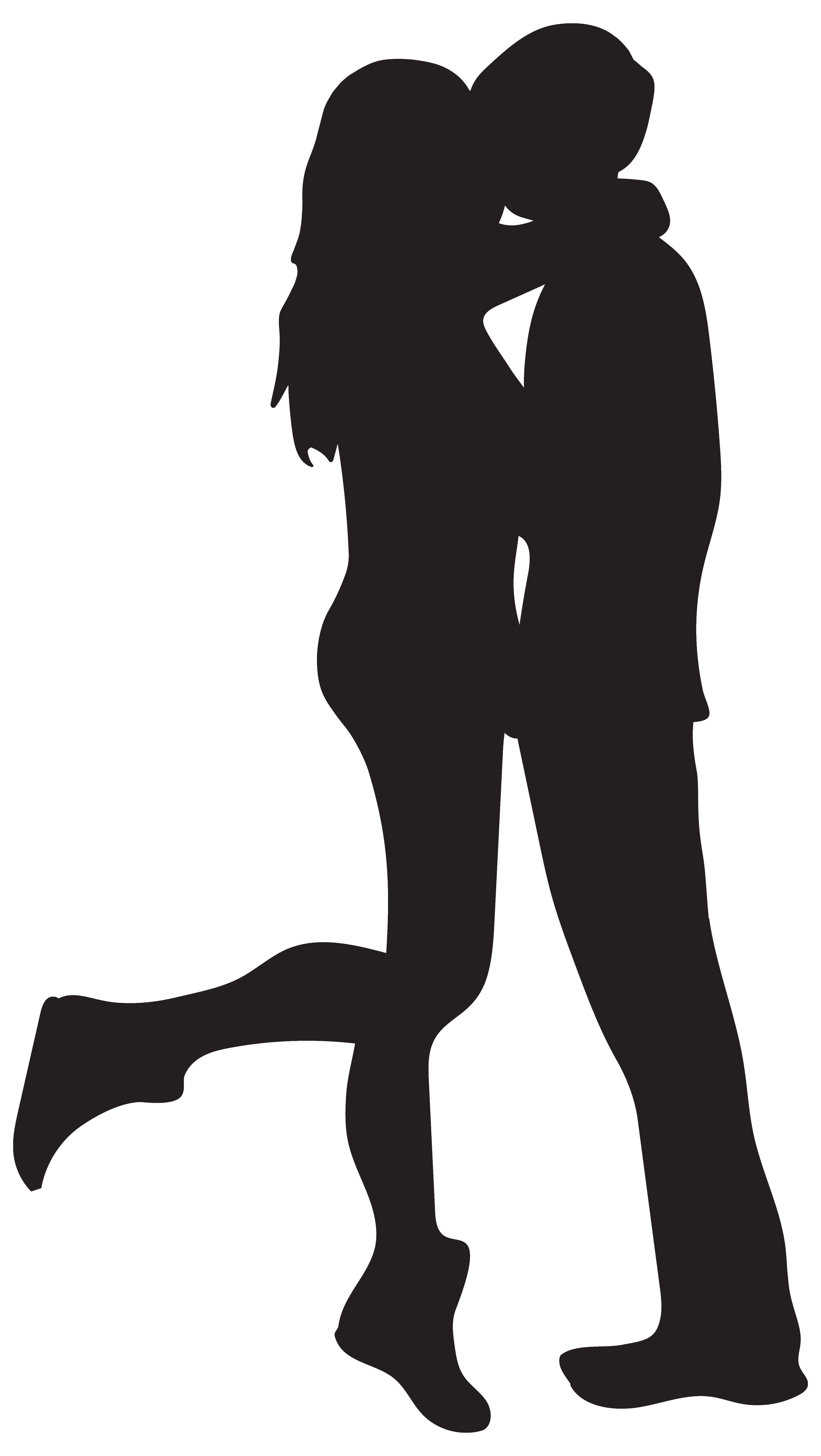 Kissing clipart Clipart PNG Silhouettes Image Gallery