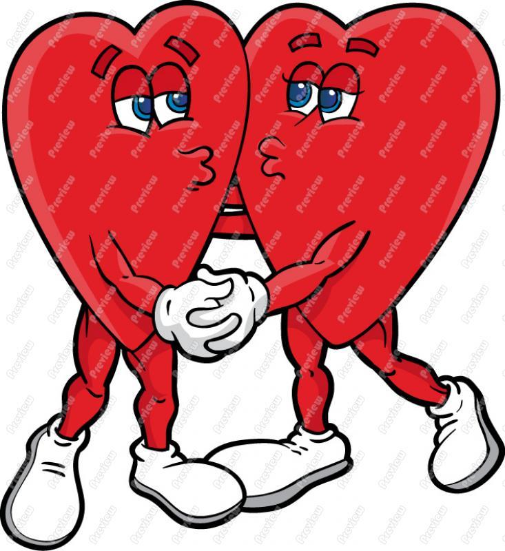 Kisses clipart cartoon funny Hearts Kissing Cartoon Hearts Vector