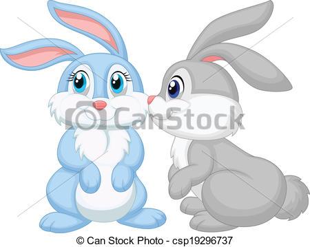 Kisses clipart bunny Kissing rabbit cartoon kissing