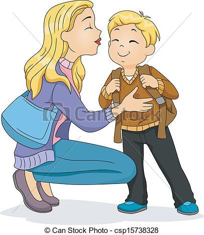 Hello! clipart farewell On Clip cheek Illustration kiss