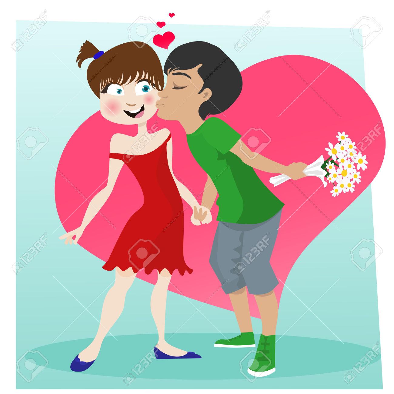 Kisses clipart sweet couple — Kiss Kiss Clipart Images
