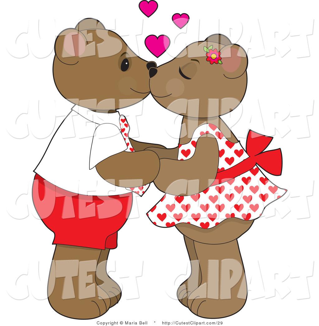 Kisses clipart cute teddy bear Art of Couple Teddy Clip