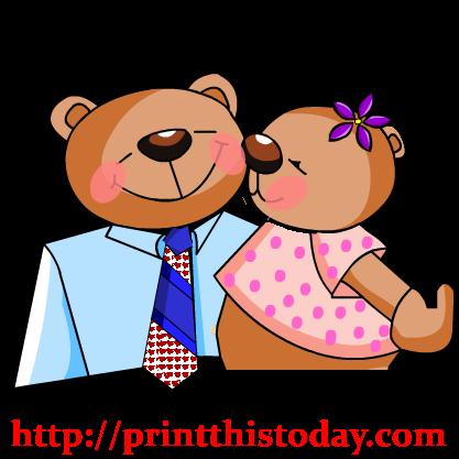 Kisses clipart cute teddy bear Clip Art Teddy Teddy Kissing