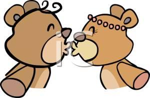Kisses clipart cute teddy bear Bears Kissing Clipart Two Image: