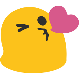 Kisses clipart emoji Kiss face throwing android android