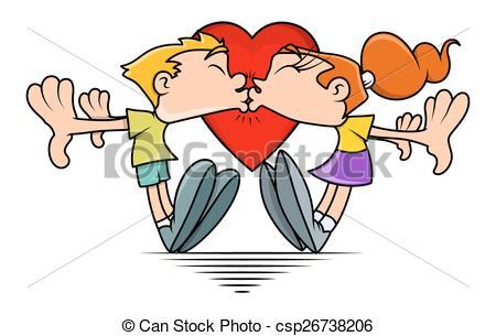 Kisses clipart cartoon funny  Couple Cartoon Cartoon Funny