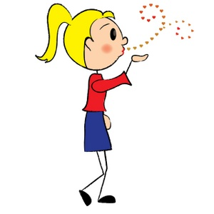Kisses clipart cartoon Valentine Image: Her Clipart Blowing