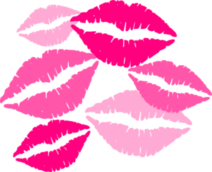 Kisses clipart graphic Kisses clipart Pink clipart kisses