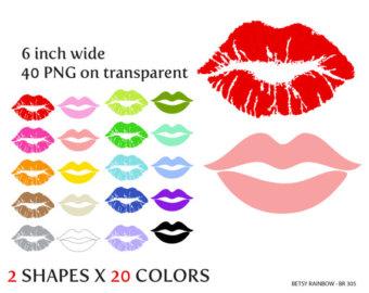 Kisses clipart light pink Clipart kisses clipart Etsy valentine