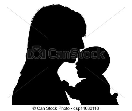 Kisses clipart mother and child Child her child Clipart her
