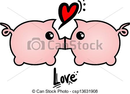 Kisses clipart pig Clipart love design Creative Love