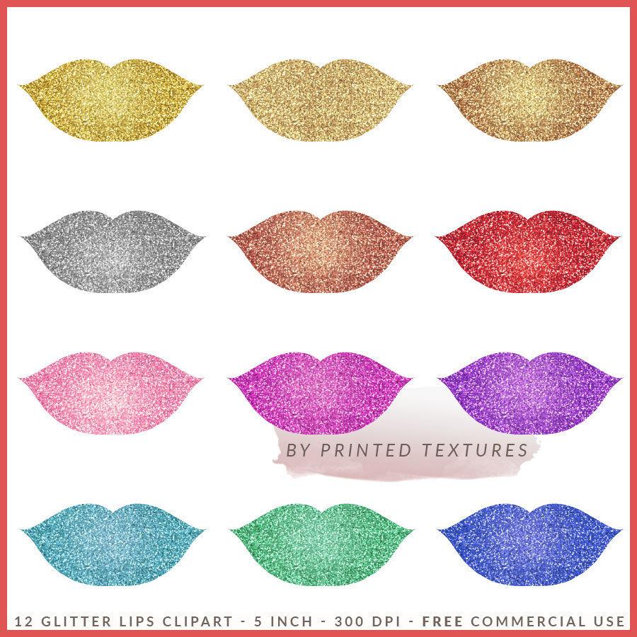 Kisses clipart pink glitter Sparkling  Art Glitter Kiss