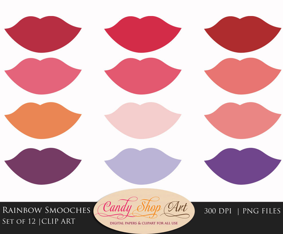 Kisses clipart purple lip A  Clipart Kiss Mothers