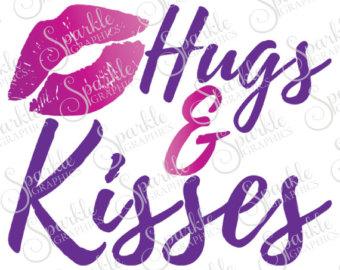 Kisses clipart purple lip Kisses Dxf Cute Kids Shirt