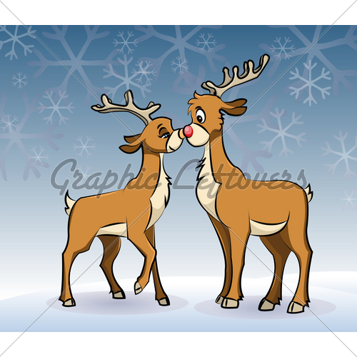 Kisses clipart reindeer By Stock Kissing Smooching Images