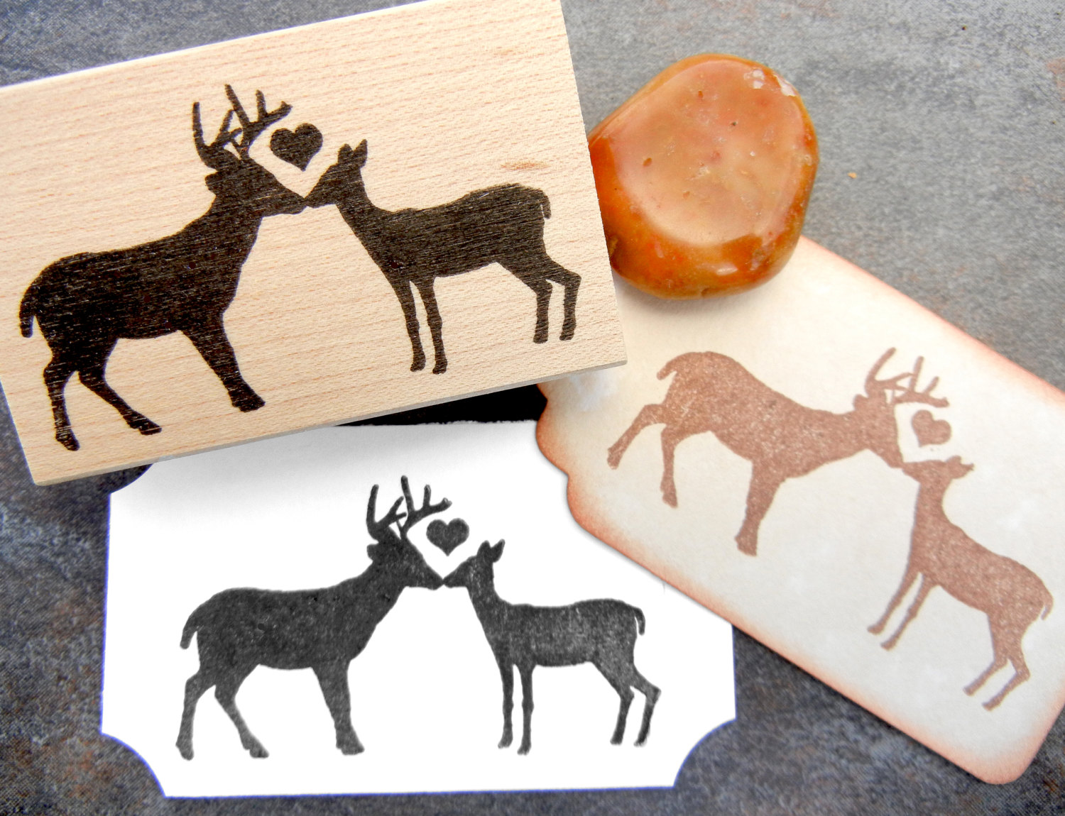 Kisses clipart reindeer Item? Handmade Kissing and by