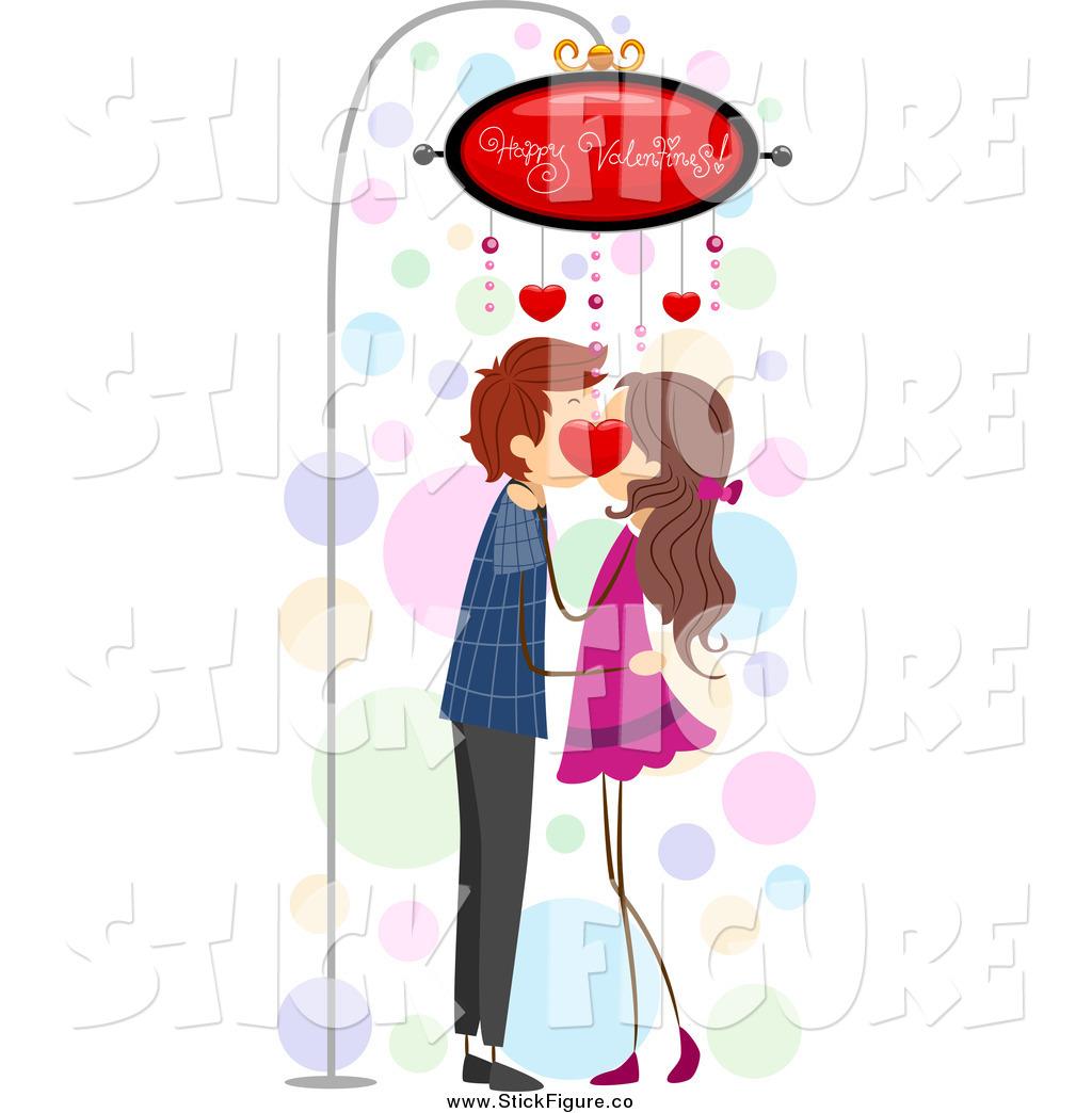 Kisses clipart stick figure Couple Figure Under Stock Designs