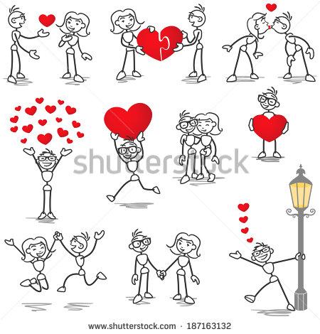 Kisses clipart stick figure Photo of of photo woman