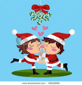 Kisses clipart sweet couple Clipart Couple White Costumes Santa