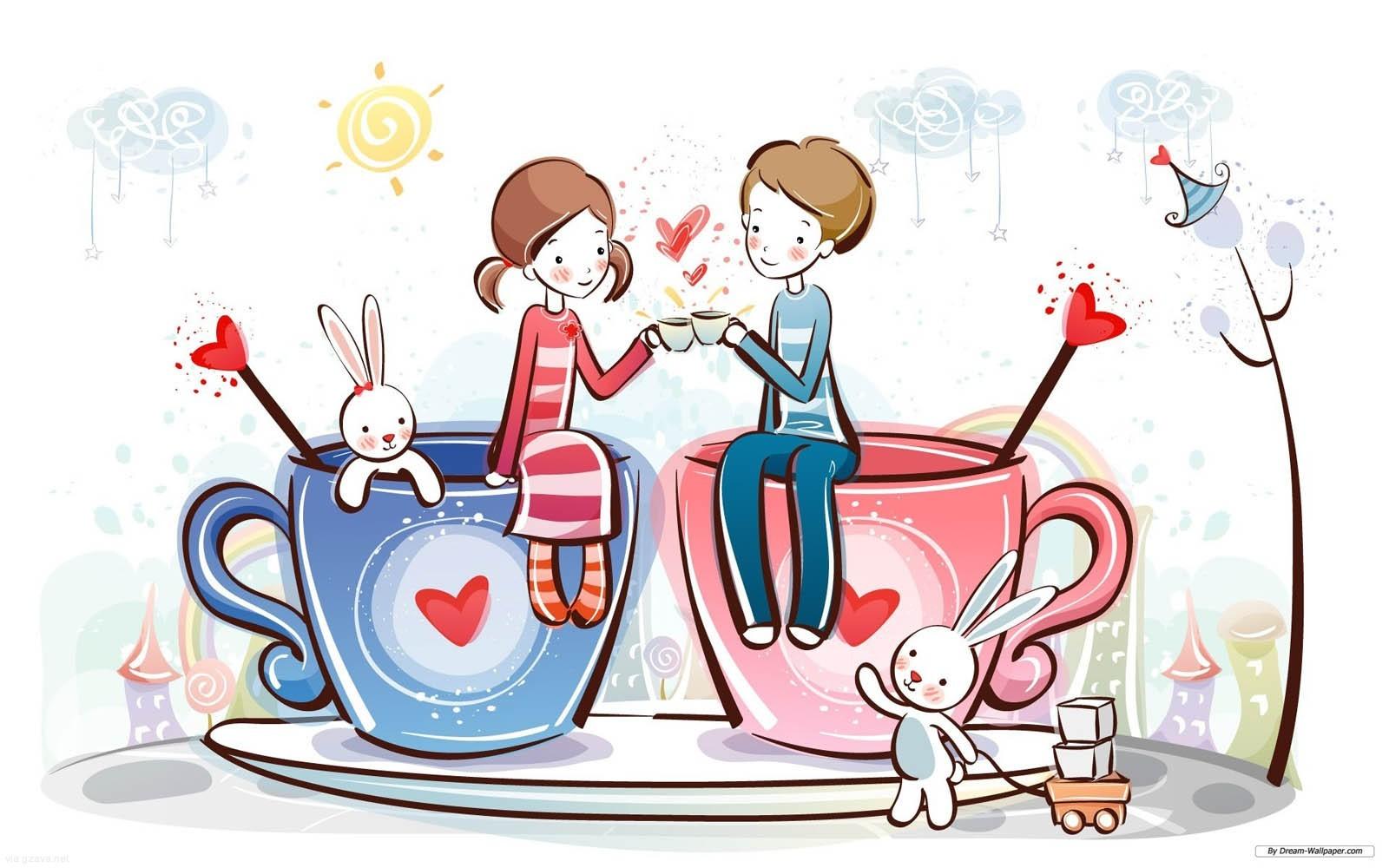 Kisses clipart sweet couple Couple Love on Free Cartoon