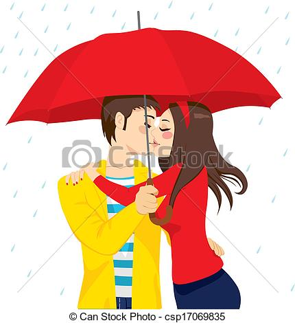 Kisses clipart sweet couple Umbrella Sweet  in Kiss
