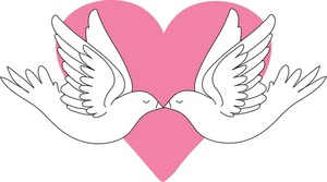 Kisses clipart valentine's day Valentines of Clipart of pink