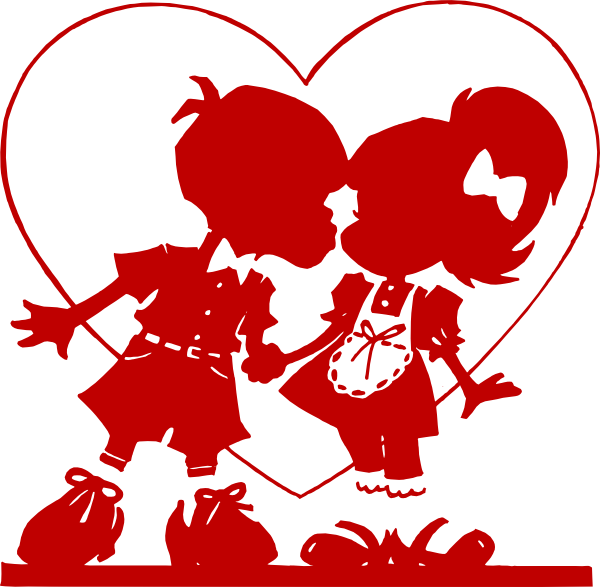 Kisses clipart valentine's day Vector at com Valentine Red