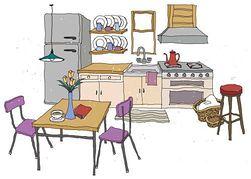 Kitchen clipart Art Clip Free Free Clipart