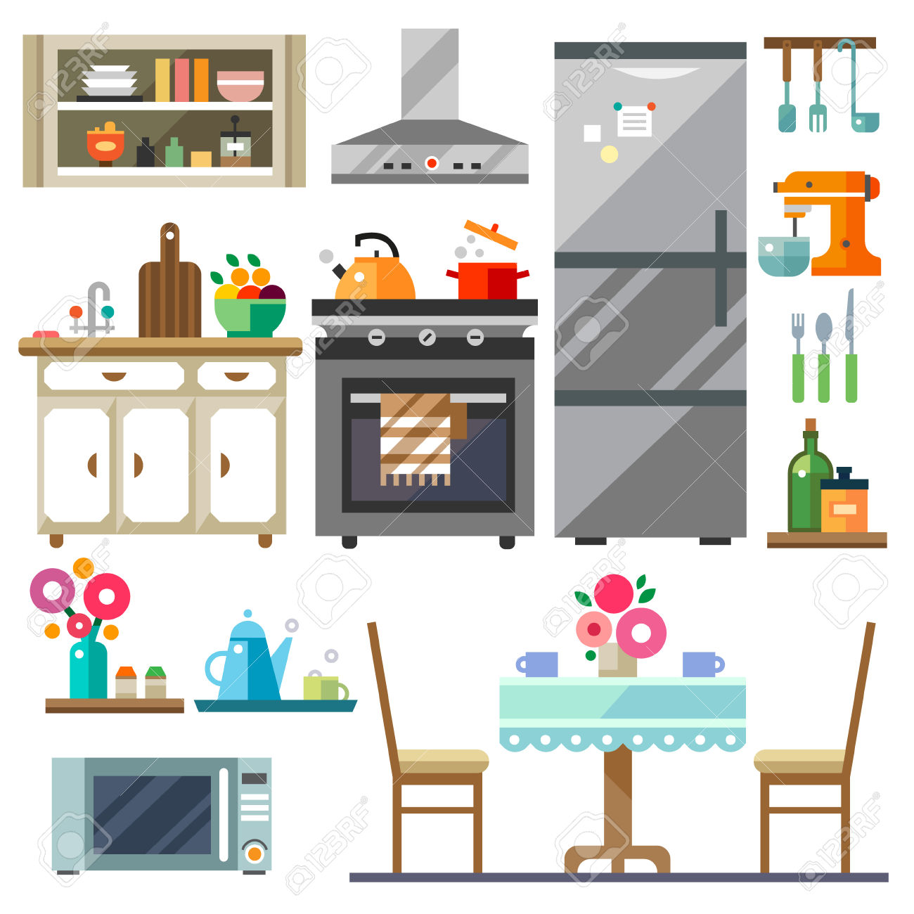 Furniture clipart kitchen room Cartoon ClipartMe Clipart Clip Clipart