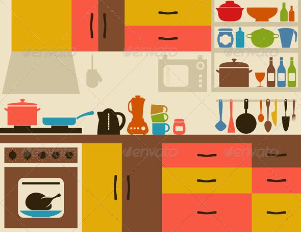 The Kitchen clipart kitchen room Clipart Clipartix room Kitchen clipart