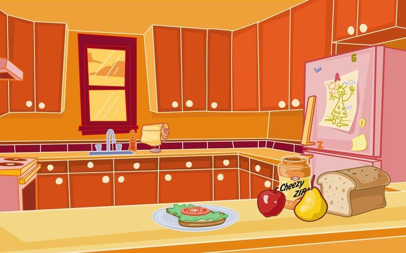 Kitchen clipart backdrop Kitchen Background & Background Illustrations