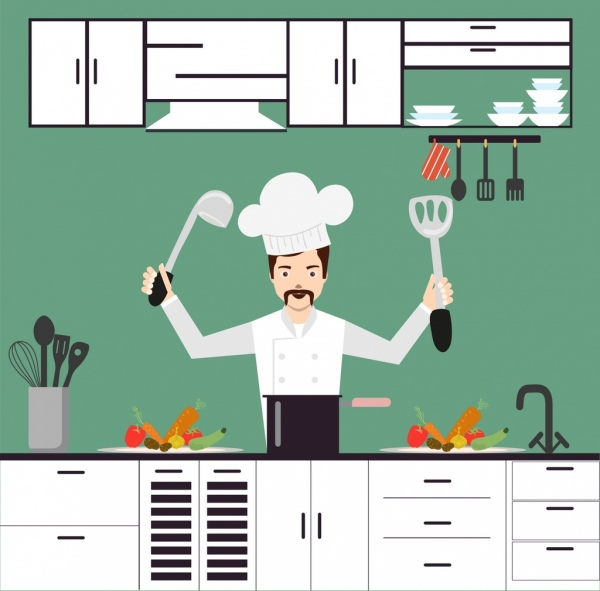 Kitchen clipart backdrop  cooking for background download
