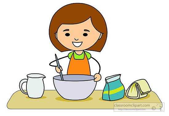 The Kitchen clipart baking Baking baking girl mixing mixing