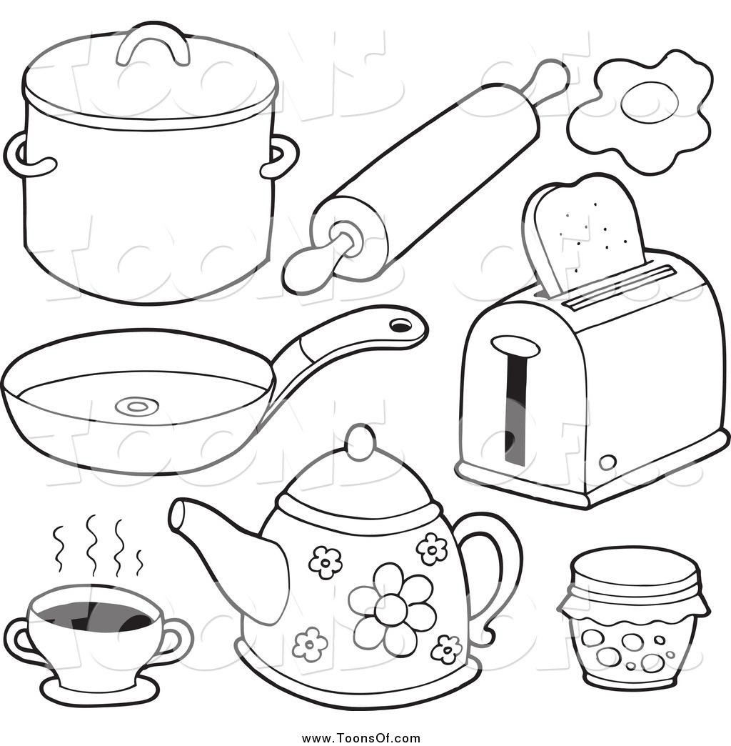 The Kitchen clipart black and white White and Clipart White #27415