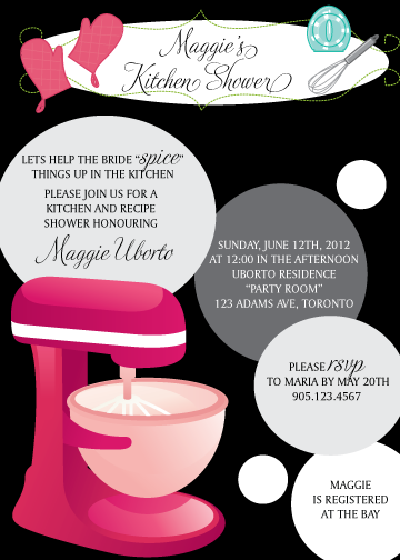 Kitchen clipart bridal shower #6