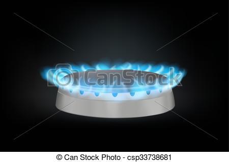 Kitchen clipart burner Kitchen realistic on burner gas