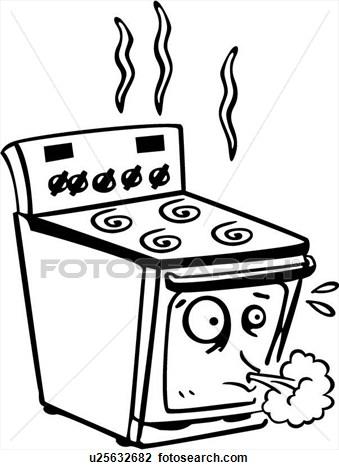 Kitchen clipart burner Clip Burner Cook Art Clipart
