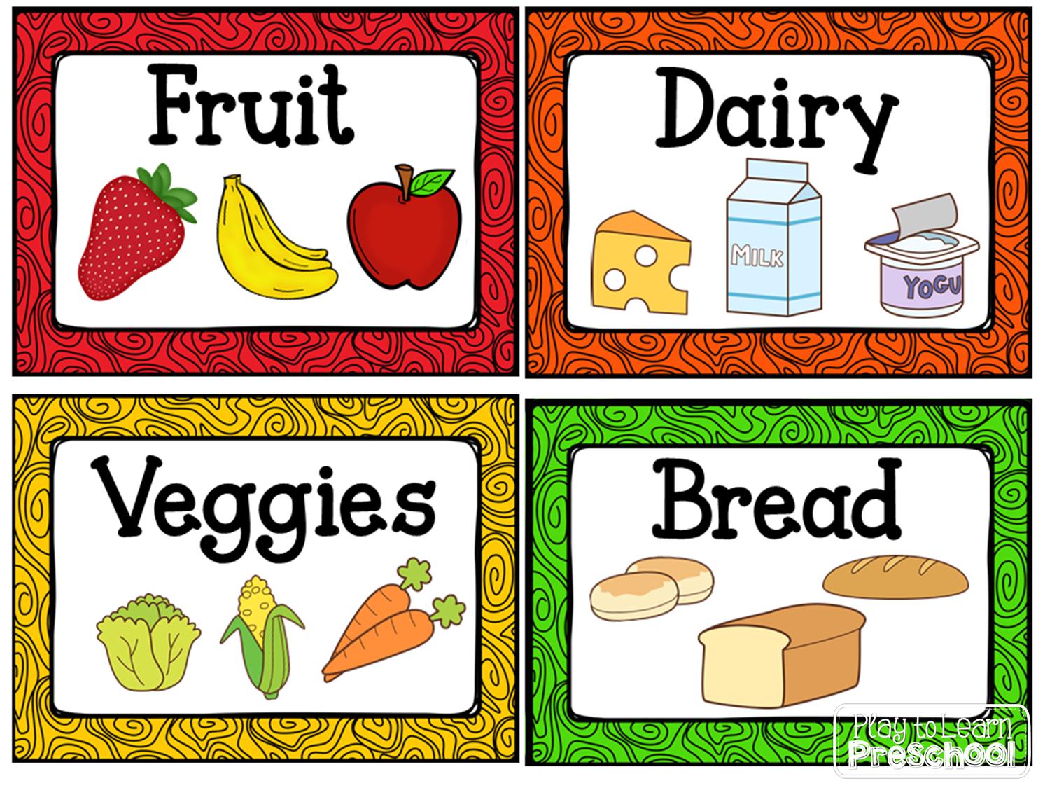 The Kitchen clipart classroom centers Preschool! Labels for housekeeping from