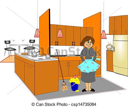 Kitchen clipart clean kitchen Art Download Cleaning Art Kitchen